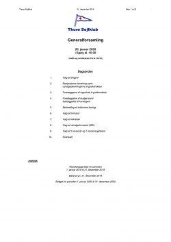 Generalforsamling 2020, regnskab og forslag til generalforsamlingen